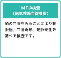 MRA検査 (磁気共鳴血管撮影)